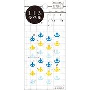 ML135 [いろラベル いかり クリア marine(マリン) 3シート]