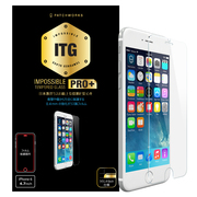 P-4302J [iPhone 6/6s用 ITG PRO Plus Impossible Tempered Glass 0.4mm 強化ガラス製フィルム ラウンドカット]