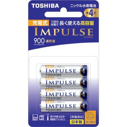 TNH-4AH 4P [ニッケル水素電池 IMPULSE(インパルス) 高容量タイプ 単4形 4本]