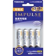 TNHC-34AH BC [IMPULSE(インパルス)急速充電器セット 単3・単4形電池兼用 倍速充電対応 単3形ニッケル水素電池4本付 最大4本まで充電可能]
