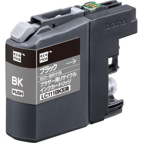 ECI-BR111B [ブラザー LC111BK 互換リサイクルインクカートリッジ ブラック]
