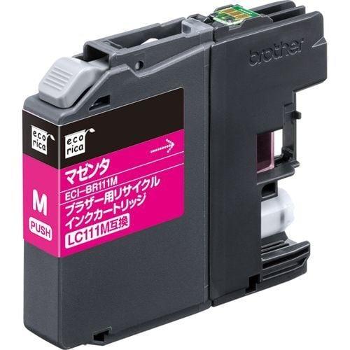 ECI-BR111M [ブラザー LC111M 互換リサイクルインクカートリッジ マゼンタ]