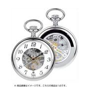 90002-01 [懐中時計 手巻き スケルトン シルバー/ホワイト]