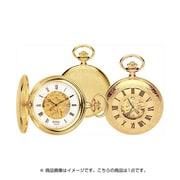 90009-01 [懐中時計 手巻き スケルトン 片面開閉式 ゴールド/ホワイト]