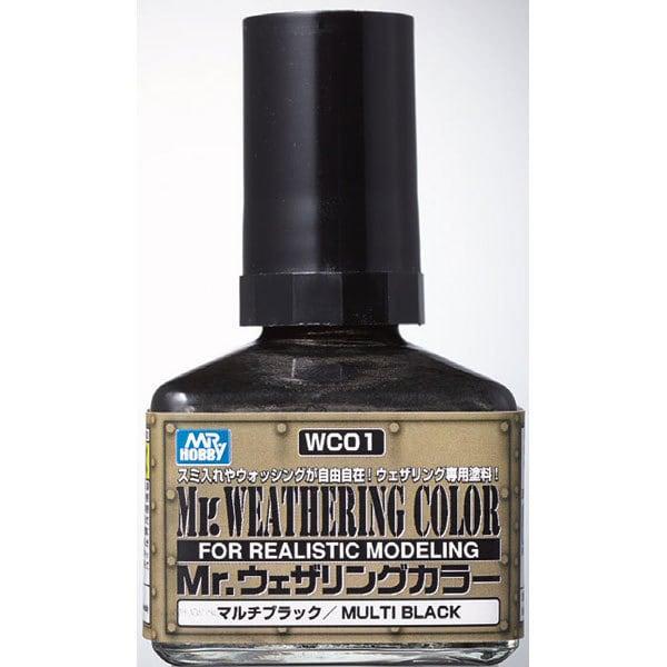 WC01 [Mr.ウェザリングカラー マルチブラック 40ml]