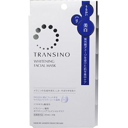 トランシーノ薬用ホワイトニングフェイシャルマスク [20ml×4枚]
