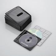 CCD-NBW100BK [ファイリング用 2穴付き DVD CD 不織布ケース 両面収納 100枚 ブラック]