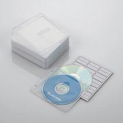 CCD-NBW100WH [ファイリング用 2穴付き DVD CD 不織布ケース 両面収納 100枚 ホワイト]