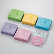 CCD-NBW300ASO [ファイリング用 2穴付き DVD CD 不織布ケース 両面収納 300枚 5色]