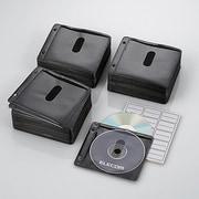 CCD-NBW300BK [ファイリング用 2穴付き DVD CD 不織布ケース 両面収納 300枚 ブラック]