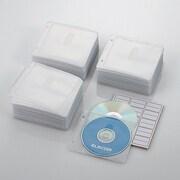 CCD-NBW300WH [ファイリング用 2穴付き DVD CD 不織布ケース 両面収納 300枚 ホワイト]