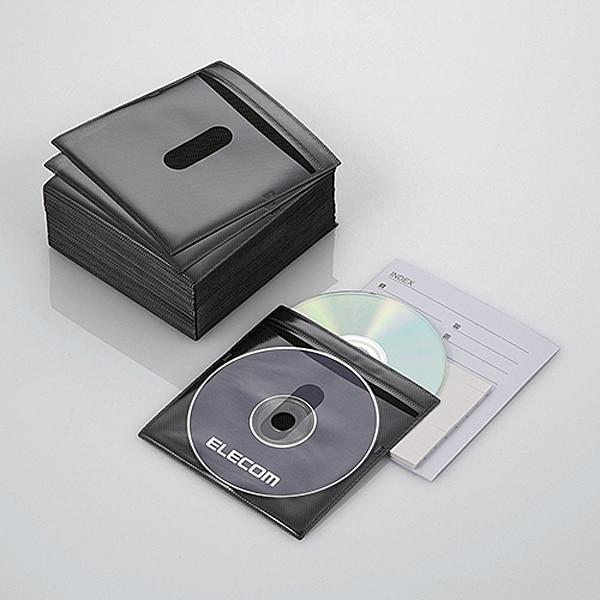 CCD-NIW100BK [DVD CD不織布ケース 両面収納 100枚 ブラック]