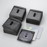 CCD-NIW300BK [DVD CD不織布ケース 両面収納 300枚 ブラック]