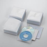 CCD-NIW300WH [DVD CD不織布ケース 両面収納 300枚 ホワイト]