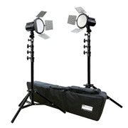 L26862 [LEDバッテリー照明 トロピカル VLG-2160SK2 LEDライト2灯・エアークッションライトスタンド2本セット]