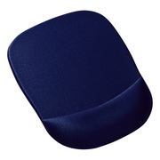 MPD-MU1NBL [低反発リストレスト付きマウスパッド ブルー]
