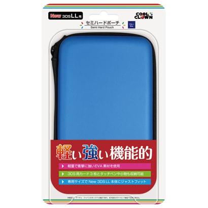 セミハードポーチ [New 3DSLL用 ブルー]