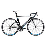 AMA040505 EKWA [ロードバイク REACTO 400 50cm 700×23C 外装22段変速(フロント2段×リア11段) ブラック/ホワイト(プロセスブルー)]