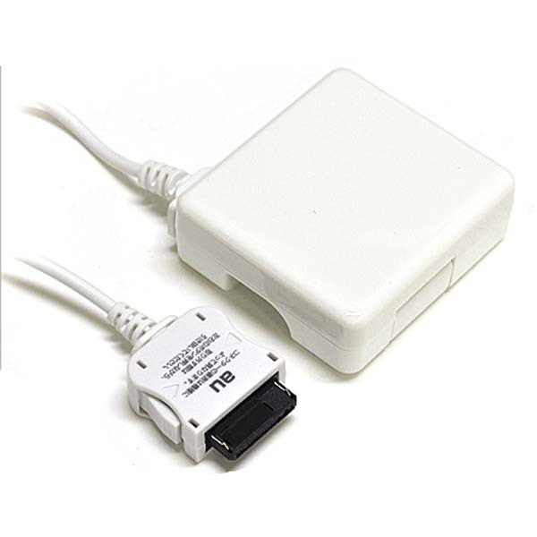 RBAC091 [au携帯電話対応 携帯電話用AC充電器 ホワイト 1A 家庭用コンセント充電器 240V対応]