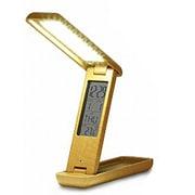 PR-L001W-HKI [LED充電式 折りたたみ デスクスタンドライト アラーム付 wood]
