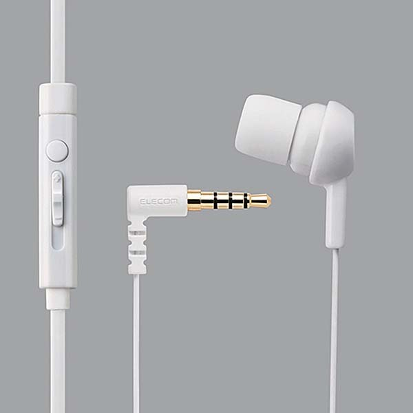 EHP-MC3520WH [スマートフォン用 モノラルヘッドホン マイク付 耳栓タイプ ホワイト]