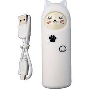 アニマル充電器 [リチウム充電器 キャット sleep ホワイト 2200mAh USB出力:1ポート 最大:1A]