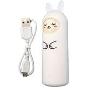 アニマル充電器 [リチウム充電器 ラビット sleep ホワイト 2200mAh USB出力:1ポート 最大:1A]