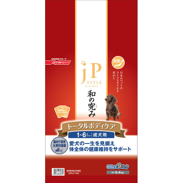 ジェーピースタイル 1~6歳までの成犬用 ドライタイプ 5.4kg [ドッグフード]