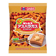 ギンビス ミニアスパラガス こんがりバタートースト味 77g