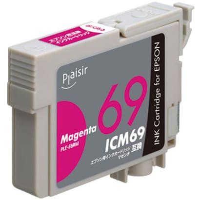 PLE-E69M [ICM69 互換インクカートリッジ マゼンタ 顔料]