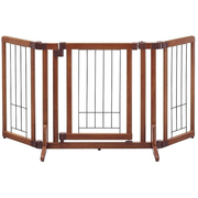 ペット用 木製おくだけドア付ゲート S ブラウン