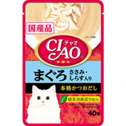 CIAO パウチ [猫用 まぐろ ささみ しらす入り 40g]