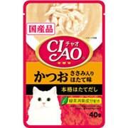 CIAO パウチ [猫用 かつお ささみ入り ほたて味 40g]