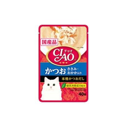CIAO パウチ [猫用 かつお ささみ おかか入り 40g]