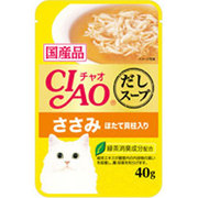 CIAO だしスープ [猫用 レトルトパウチ ささみ ほたて貝柱入り 40g]