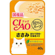 CIAO だしスープ [猫用 海老クリームスープ ささみ ほたて貝柱 甘海老入り 40g]