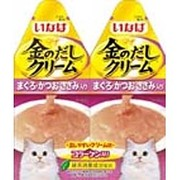 金のだし クリーム [猫用 まぐろ かつお ささみ入り 60g(30g×2袋)]