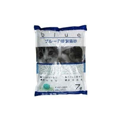 KPG ブルーの紙製猫砂 7L