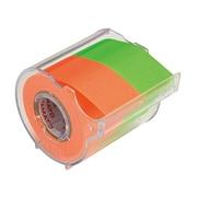 NORK-25CH-6D [メモックロールテープ 蛍光カラー 25mm×10m オレンジ&ライム]