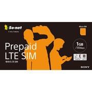 Prepaid LTE SIM by so-net プラン1GB [microSIM]