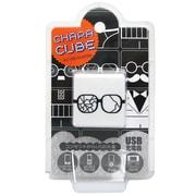CU-GL-01 [キャラキューブ USBポート AC充電器 フェイス・メガネ1]