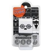 CU-GL-02 [キャラキューブ USBポート AC充電器 フェイス・メガネ2]
