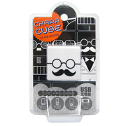 CU-GL-03 [キャラキューブ USBポート AC充電器 フェイス・メガネ3]