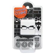 CU-GL-04 [キャラキューブ USBポート AC充電器 フェイス・メガネ4]