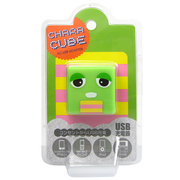 CU-GM-01 [キャラキューブ USBポート AC充電器 ガチャピン・グリーン]