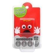 CU-GM-02 [キャラキューブ USBポート AC充電器 ムック・レッド]