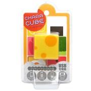 CU-LU-02 [キャラキューブ USBポート AC充電器 ランチBOX・チーズ]