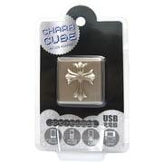 CU-SK-04 [キャラキューブ USBポート AC充電器 クロス・シルバー]