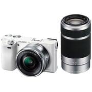 ILCE-6000Y W [α6000 (アルファ6000) ダブルズームレンズキット ボディ+交換レンズ「E PZ 16-50mm F3.5-5.6 OSS」「E 55-210mm F4.5-6.3 OSS」 ホワイト]