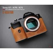 LE-HCSA7SBR [イタリアンミネルバ 本革カメラハーフケース ソニーA7/A7R/A7S ブラウン]